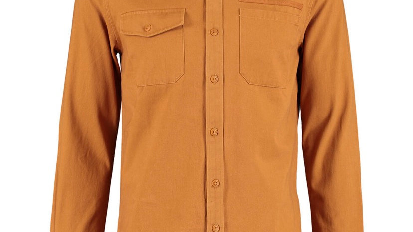 SOLID Mustard Cotton Casual Shirts