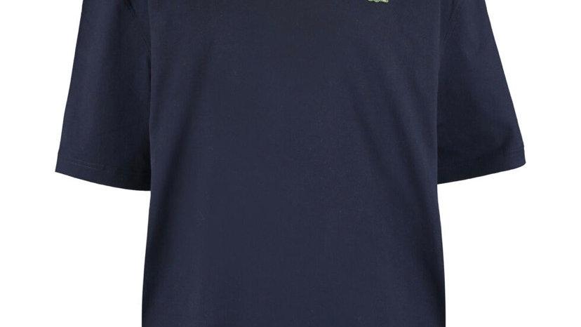 LACOSTE Navy Short Sleeve Logo Sweatshirt