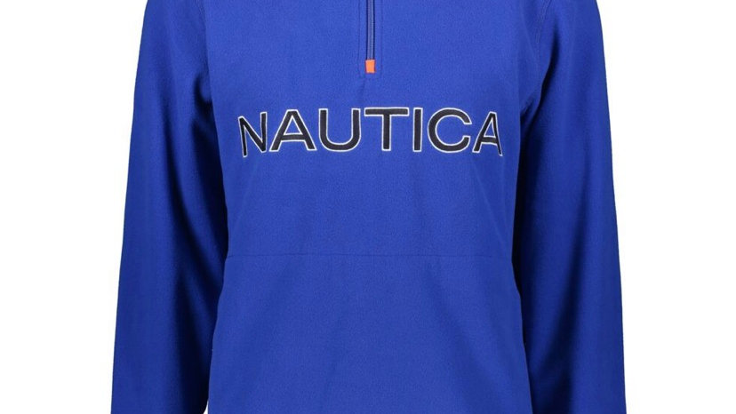 NAUTICA Blue Zipped Neck Sweatshirt