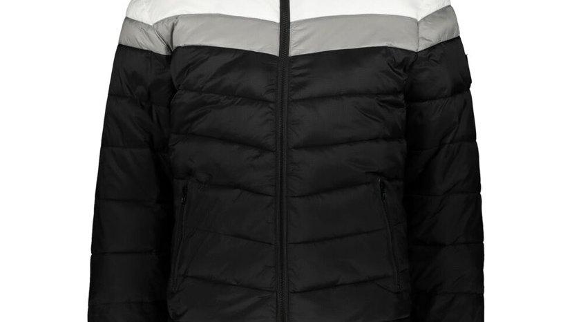 INDIGO Black & White Hooded Padded Jacket
