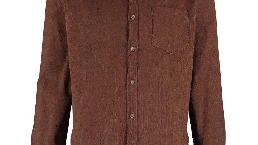 THREADBARE Brown Cord Shirt