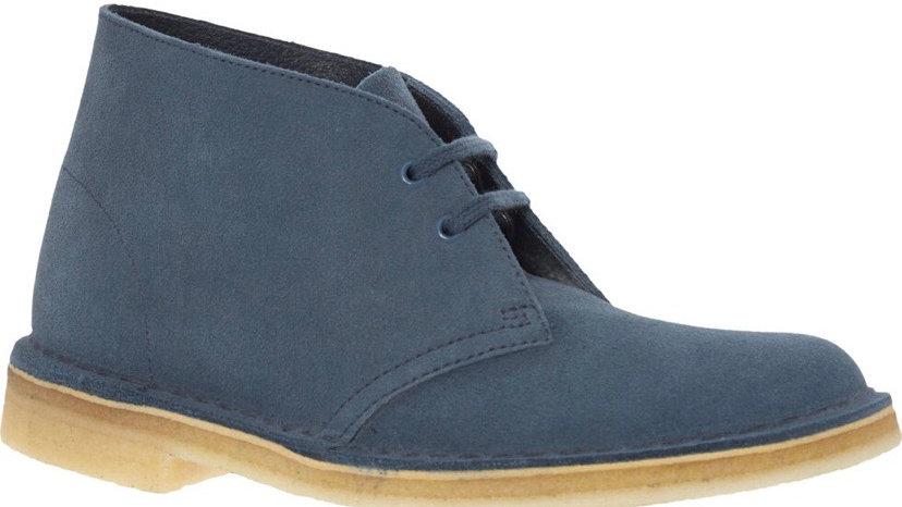CLARKS ORIGINALS Blue Suede Desert Boots