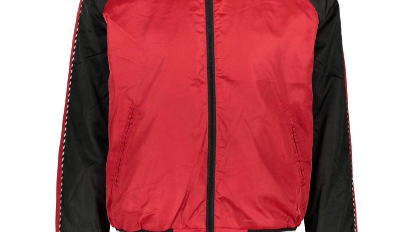 TOMMY HILFIGER Red & Black Bomber Jacket