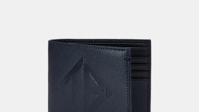 Ted Baker London MEOE Embossed leather bifold wallet