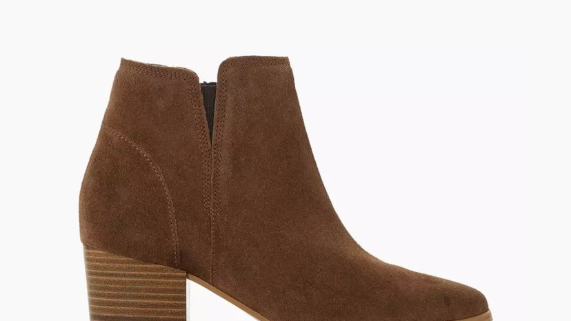 DUNE LONDON - Payge Taupe Mid Block Heel Ankle Boots