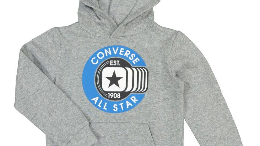 CONVERSE Grey Graphic Pullover Hoodie (Grey/Navy)