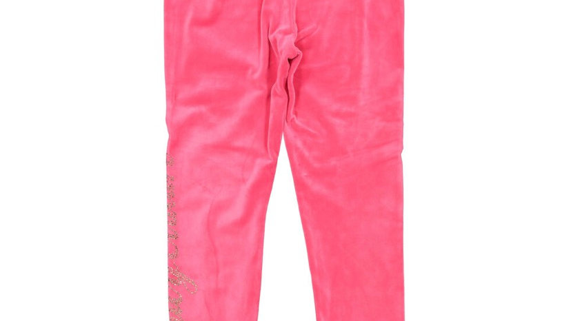 JUICY COUTURE Pink Velour Embellished Joggers