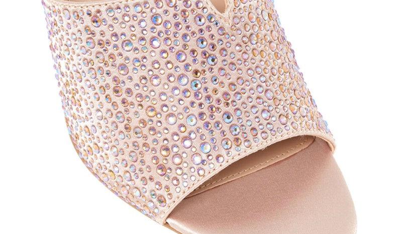 CARVELA Gold Embellished Heeled Sandals