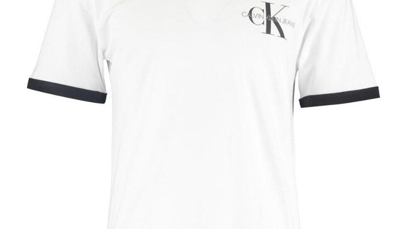 CALVIN KLEIN JEANS White Contrast Trim T Shirt