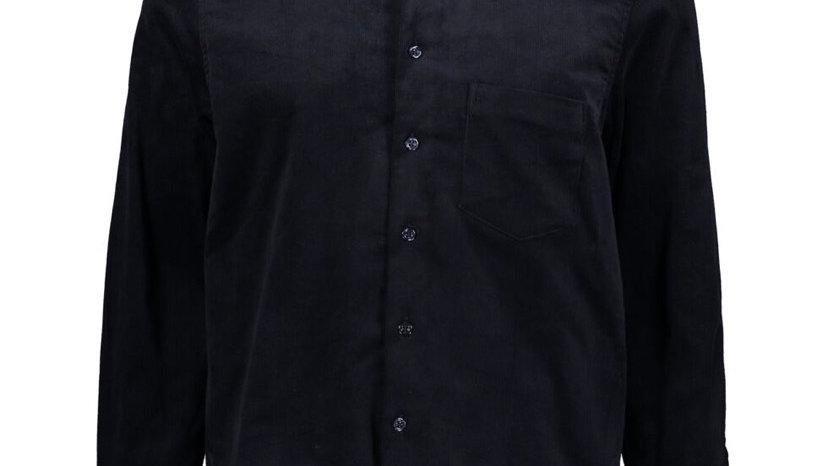 BOLONGARO TREVOR Navy Corduroy Overshirt