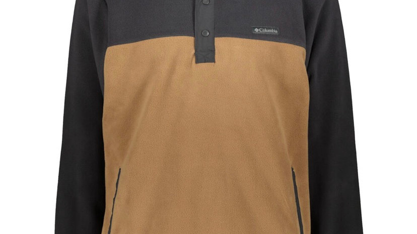 COLUMBIA Grey & Brown Fleece Pullover