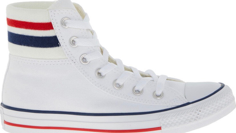 CONVERSE White Canvas Women's High Top Trainers
