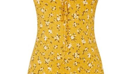 Mustard - Frill Detail Shift Dress