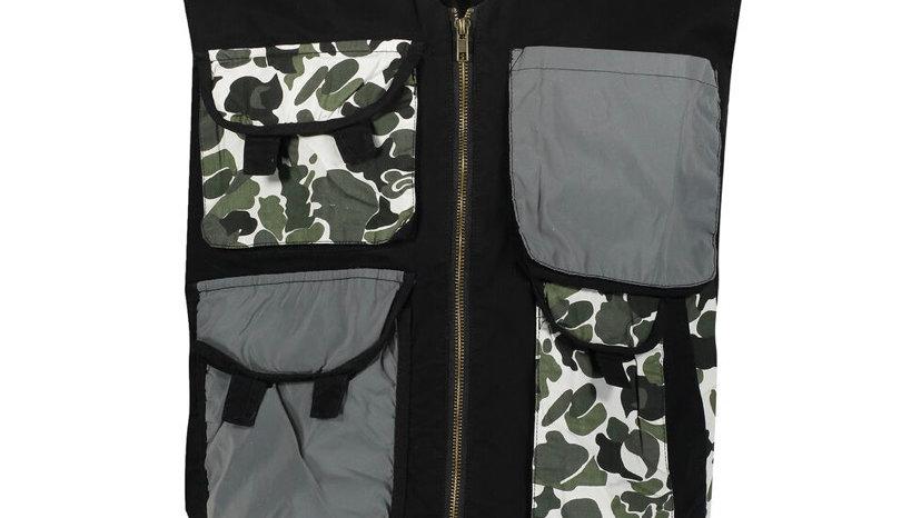 MAISON NOIR Black Utility Vest