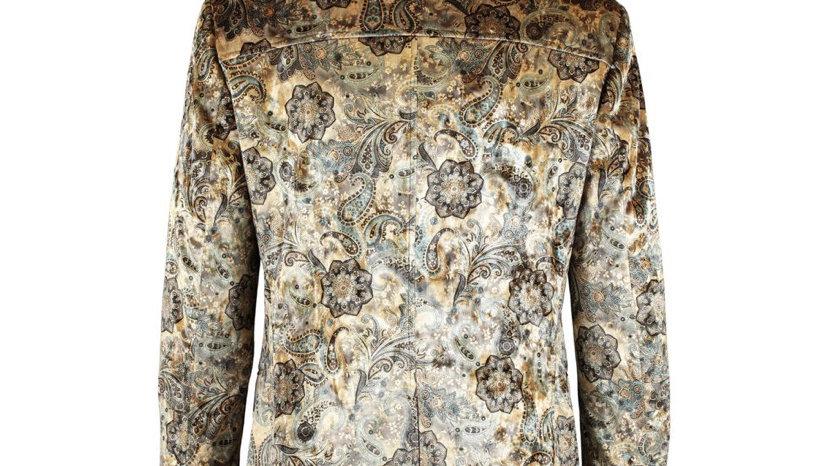 WILLIAM HUNT Gold Paisley Overcoat