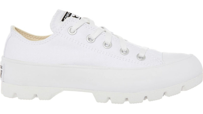 CONVERSE White Canvas Trainers