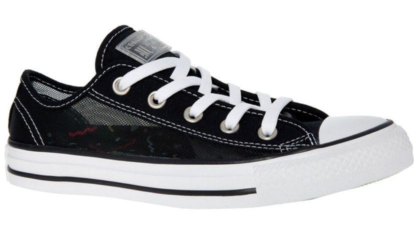 CONVERSE Black Mesh Low Top/High Trainers