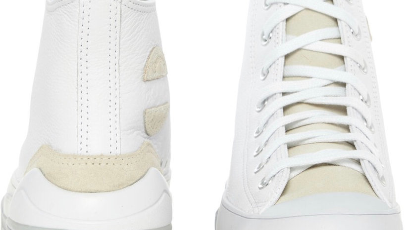 Converse (White Leather High Tops)
