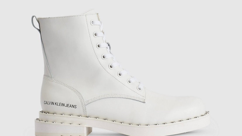 Calvin Klein - LEATHER ANKLE BOOTS