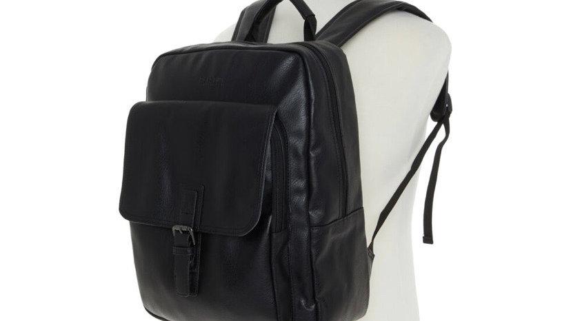 KENNETH COLE REACTION Black Buckle Strap Backpack