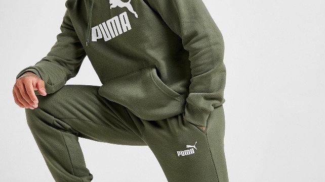 Puma Core Fleece Joggers (Khaki Green)