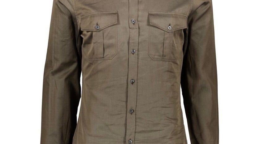 GUCCI Brown Double Breasted Shirt