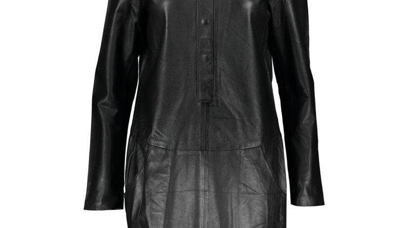 RINO & PELLE Black Leather Mini Dress
