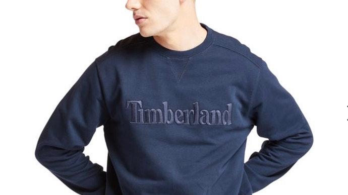Timberland - EXETER RIVER CREW SWEATSHIRT NAVY