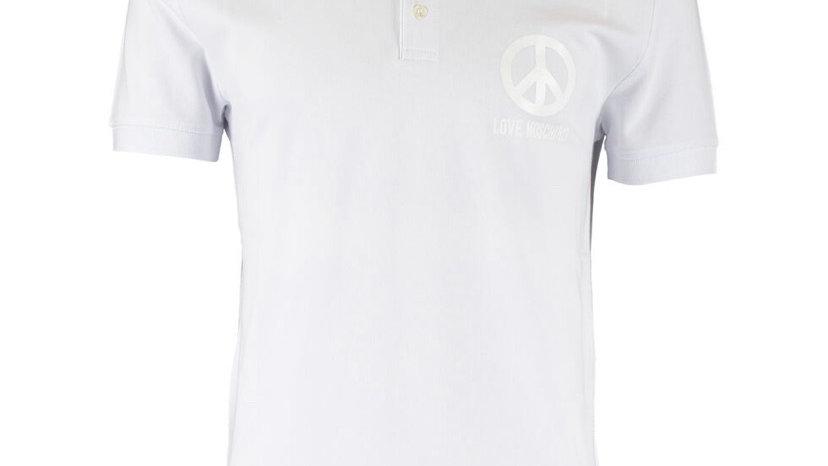 LOVE MOSCHINO White Logo Polo Shirt