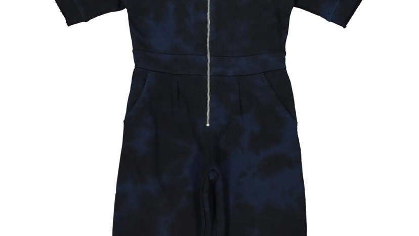 DIESEL Navy Washed Jersey Jumpsuit