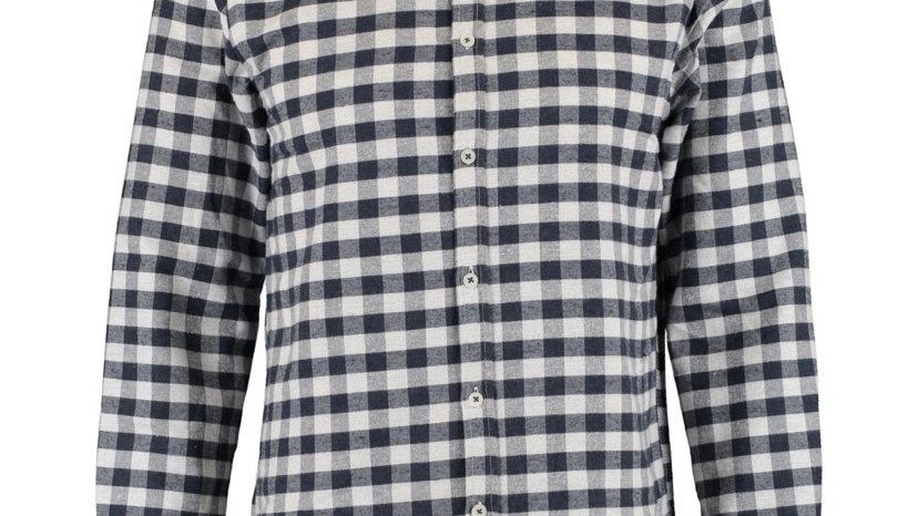 LARSSON & CO Navy & White Check Casual Shirt