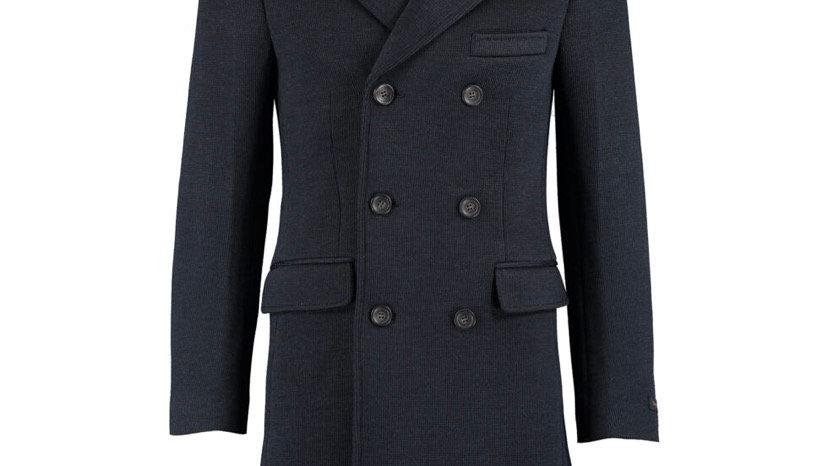 MONCRIEF Navy Wool Blend Coatigan