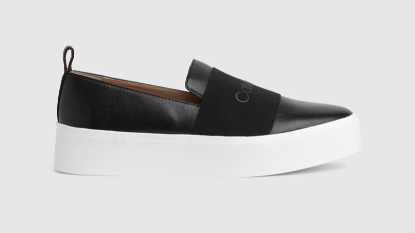 Calvin Klein - LEATHER SLIP-ON SHOES