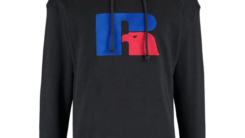 RUSSELL ATHLETIC Black Red & Blue Logo Hoodie