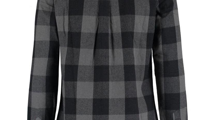BROKEN STANDARD Grey Checked Long Sleeve Shirt