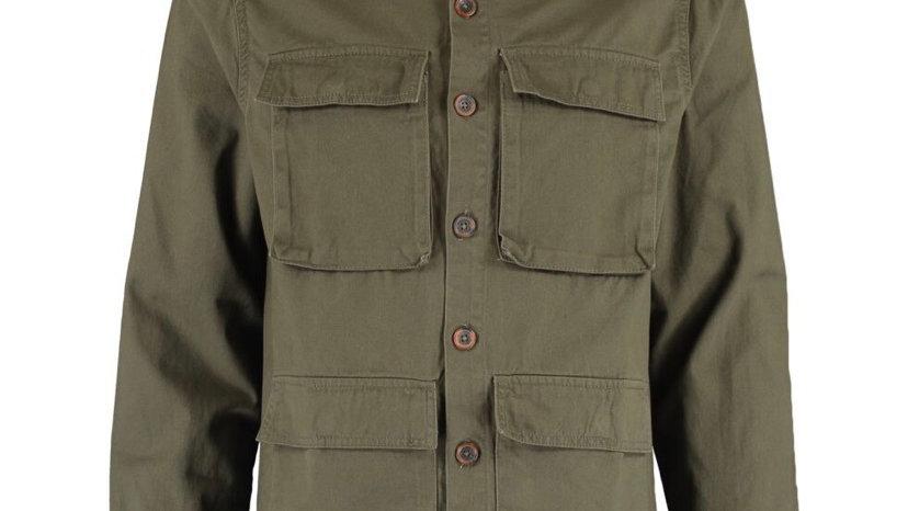 THREADBARE Khaki Four Pocket Over Shirt