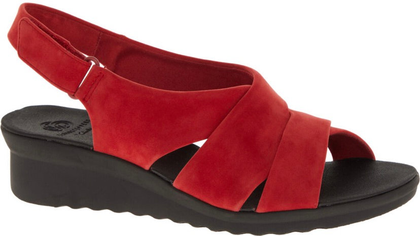 CLARKS ORIGINALS Petal Red Multi Strap Sandals