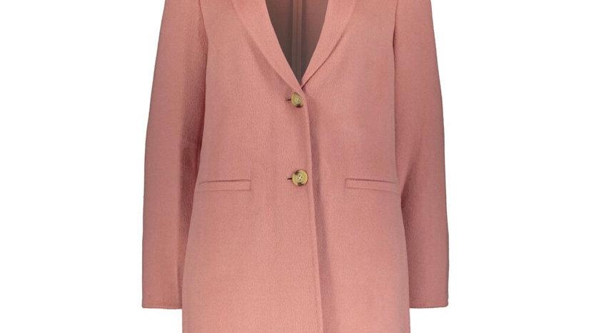 LAUREN RALPH LAUREN Pink Wool Blend Trench Coat
