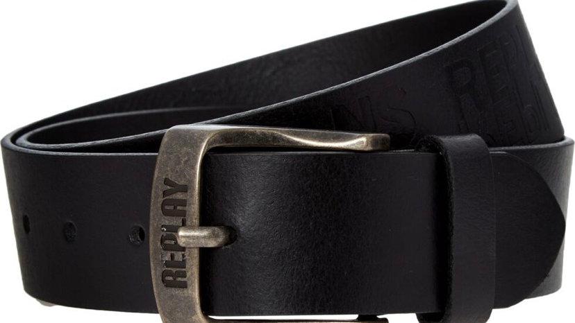 REPLAY Black Leather Belt