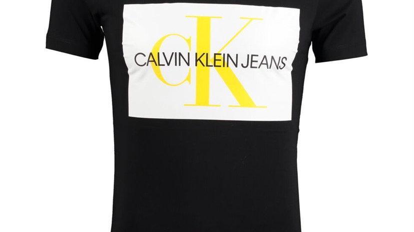 CALVIN KLEIN JEANS Black Printed Logo T Shirt
