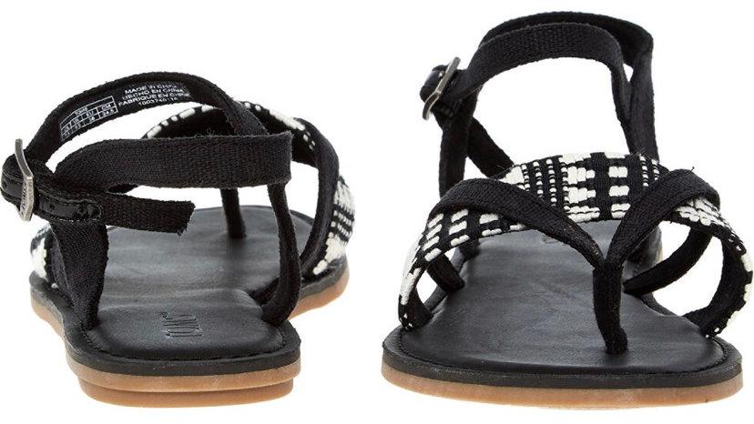 TOMS Black Canvas Sandals