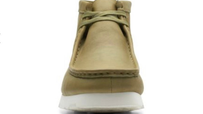 Clarks WallabeeBT GTX Khaki Leather