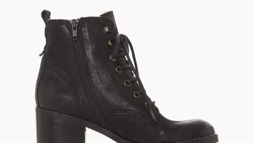 DUNE LONDON - Patsie D Black Warm Lined Ankle Boots