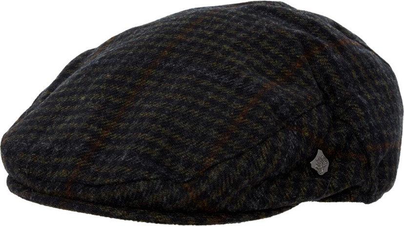 FAILSWORTH Black Patterned Flat Cap