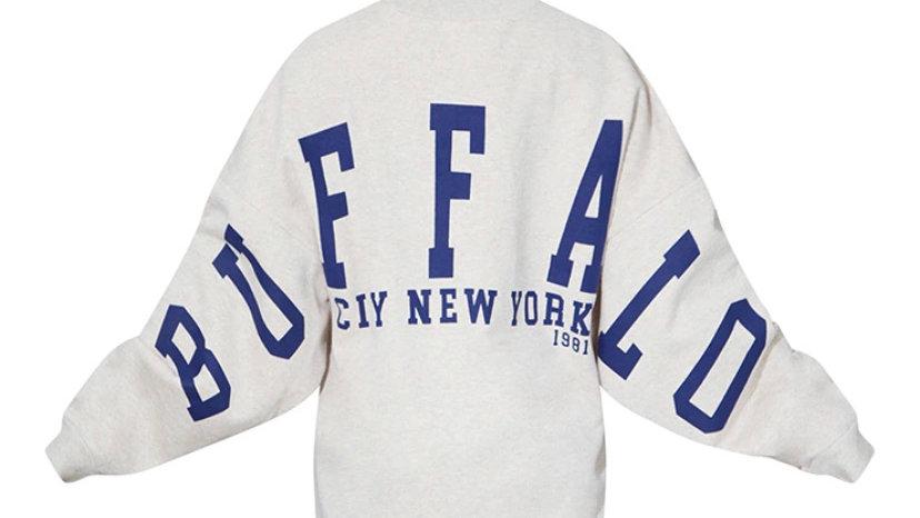 Buffalo New York Slogan Sweat Jumper Dress