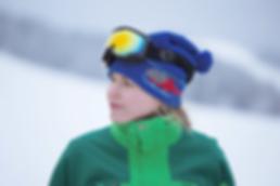 Femme aux lunettes de ski