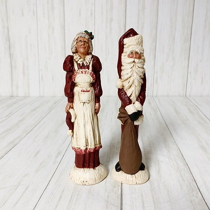 Small pencil santa set Me.& Mrs. Claus