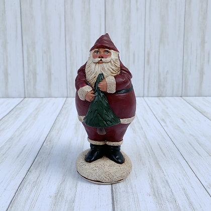 Custom order- sold Chubby Santa with Christmas Tree