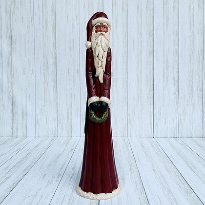 Pencil Santa with Wreath