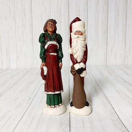 Small pencil santa set Mr. & Mrs. Claus